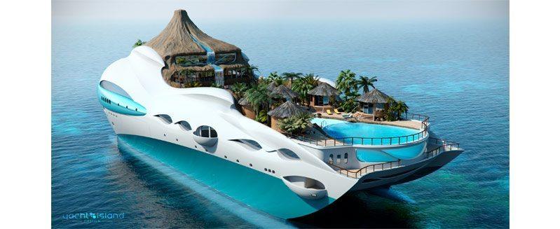 Tropical Yacht Island Design